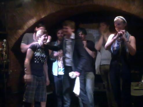 Christoph Simon bei textstrom, Poetry Slam Wien